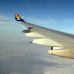 In flight on South African Airways