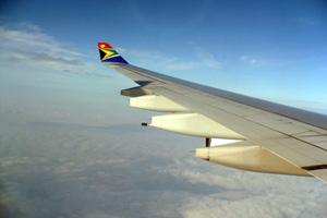 In flight on South African Airways