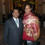 Felix A. Maradiaga and Teresa Kay-Aba Kennedy at World Economic Forum in Rio