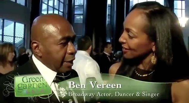 Teresa Kay-Aba Kennedy interviewing Ben Vereen at the Dr.Oz's HealthCorps Green Garden Gala