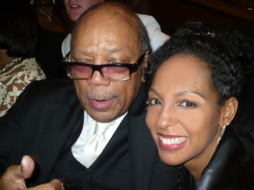 Quincy Jones and Teresa Kay-Aba Kennedy at the 2010 Salute to Greatness Dinner in Atlanta