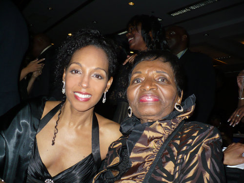 Teresa Kay-Aba Kennedy and Christine Farris King at the 2010 Salute To Greatness Dinner in Atlanta