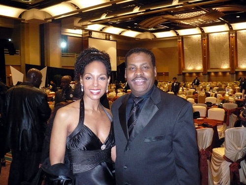 Teresa Kay-Aba Kennedy and Isaac Newton Farris at the 2010 Salute To Greatness Dinner in Atlanta