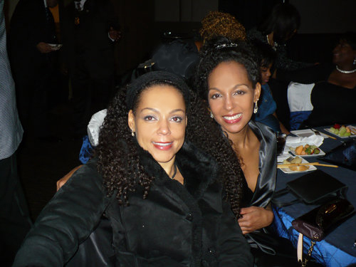 Sisters Sheila Kennedy Bryant and Teresa Kay-Aba Kennedy at the 2010 Salute To Greatness Dinner in Atlanta