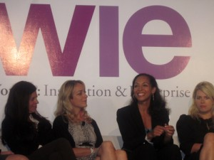 Dr. Susan Smalley, Kris Carr, Dr. Terri Kennedy, Amanda De Cadenet at the WIE Symposium