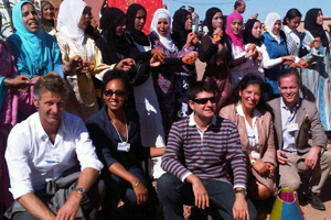 Teresa Kennedy with fellow YGLs in Morocco 2010