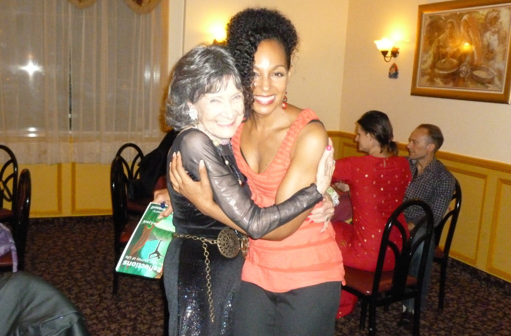 Tao Porchon-Lynch and Teresa Kay-Aba Kennedy at Tao's 93rd Birthday Party