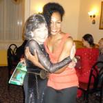 Tao Porchon-Lynch and Teresa Kay-Aba Kennedy at Tao's 93rd Birthday Party