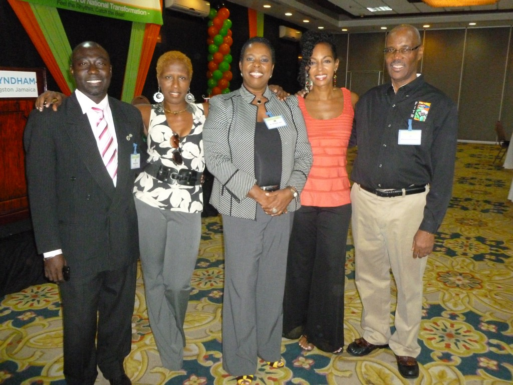 Teresa Kay-Aba Kennedy with participants at the Jamaica Customer Service Association Conference - November 24, 2011