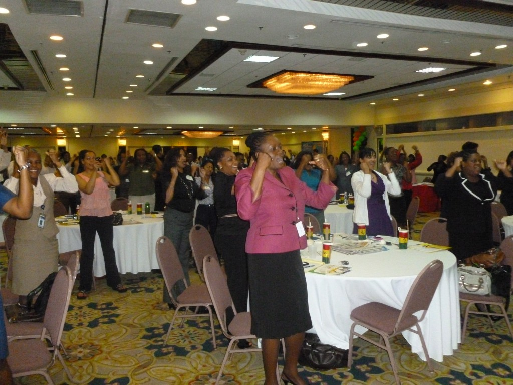 Teresa Kay-Aba Kennedy speaking at for Jamaica Customer Service Association Conference - November 24, 2011