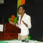 Dr. Terri Kennedy at Jamaica Customer Service Association Conference