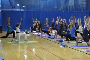 Yoga at the Pentagon with Tao Porchon-Lynch - Sun Salutation