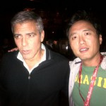 George Clooney and Oliver.Kwon at Telluride Film Festival - Sept 2011