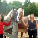 Terri Kennedy and Kathy Krupa at Old Stone Farm