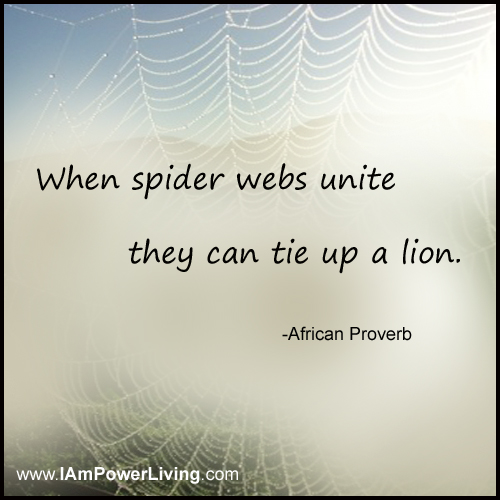 When Spider Webs Unite