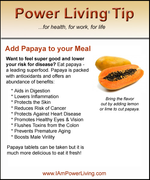 Add Papaya to your Meal