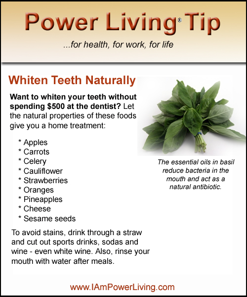 Whiten Teeth Naturally Strawberries Whiten Teeth Naturally Power
