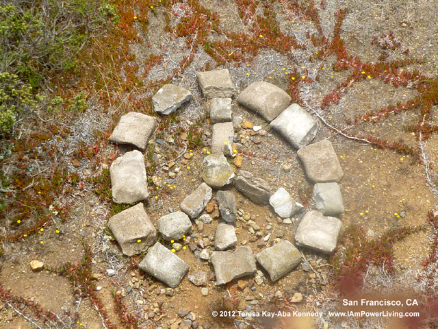 Peace Symbol in rock formation