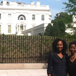 Young Global Leader Dr. Terri Kennedy and Global Shaper Grace Ali at the White House