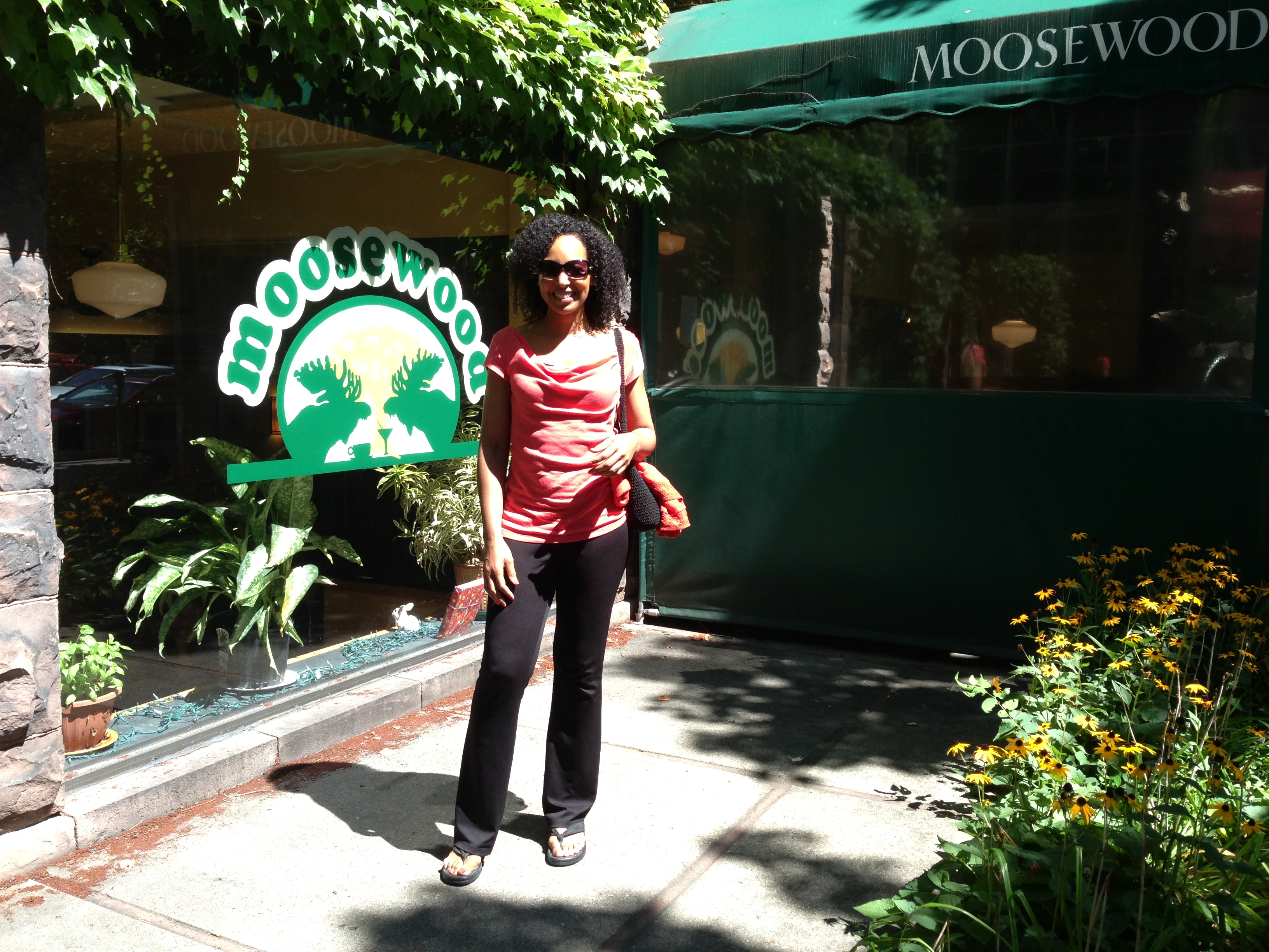 Teresa Kennedy at Moosewood Restaurant in Ithaca, NY