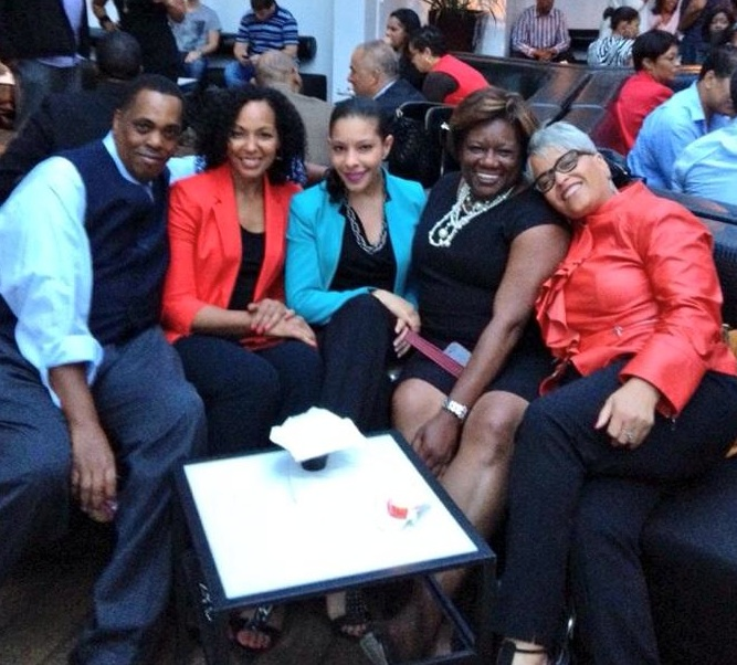 Clayton Banks, Teresa Kennedy, Daphne Leroy, Patricia Andrews-Keenan, Kathy Johnson at the Copacabana