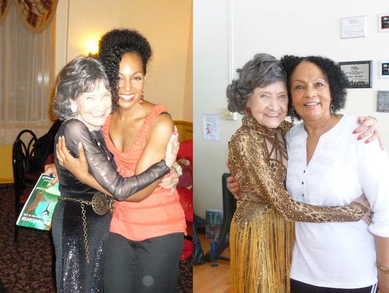 Tao Porchon-Lynch with mother-daugher writing team Janie Sykes-Kennedy and Teresa Kay-Aba Kennedy