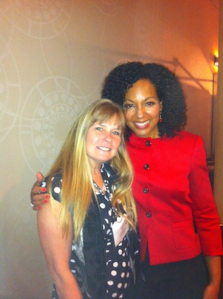Teresa Kennedy with participant at NAPW 2014 Conference