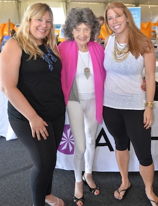 Tao Porchon-Lynch with Athleta team