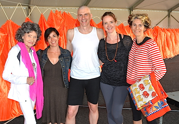 Tao Porchon-Lynch and Nantucket Yoga Festival participants