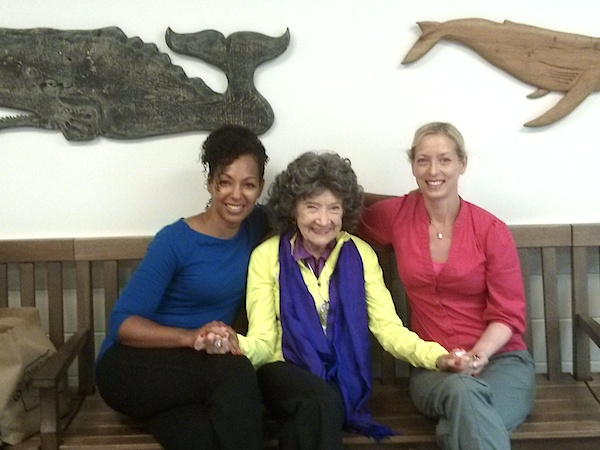 Teresa Kay-Aba Kennedy, Tao Porchon-Lynch and Joann Burnham at Nantucket Airport