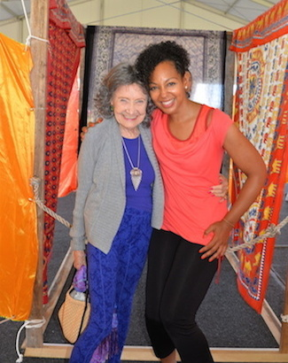 Tao Porchon-Lynch and Teresa Kennedy at Nantucket Yoga Festival
