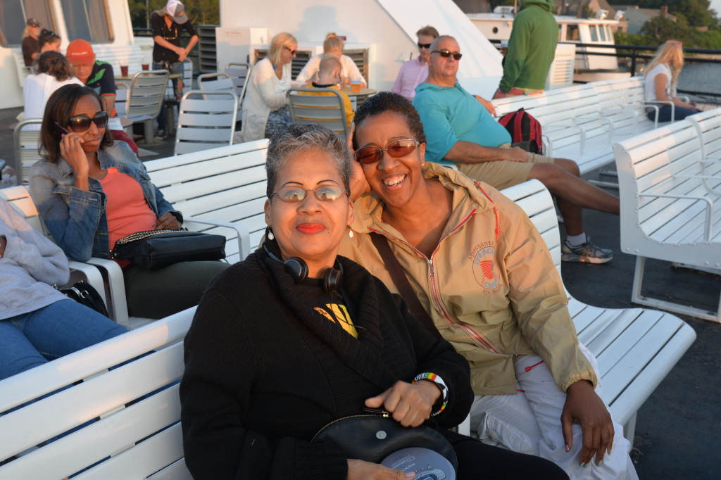 Diane Glover and Sonia Banks on Ferry to Martha's Vineyard