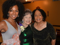 Teresa Kay-Aba Kennedy, Tao Porchon-Lynch, Janie Sykes-Kennedy at Tao's 96th birthday party