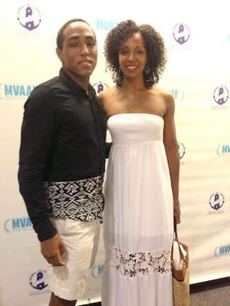 Daniel Kennedy and Teresa Kay-Aba Kennedy at Martha's Vineyard Film Festival