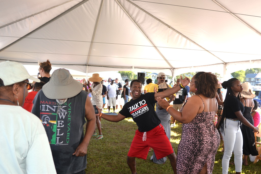 Dancing at the Martha's Vineyard Summer Madness Music Festival