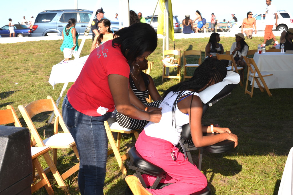 Chair Massage at the Martha's Vineyard Summer Madness Music Festival