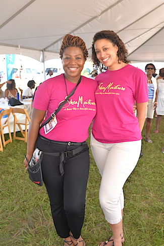 Representatives from Shea Moisture at the Martha's Vineyard Music Festival