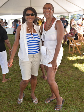 Dr. Sonia Banks at Martha's Vineyard Music Festival Beach BBQ