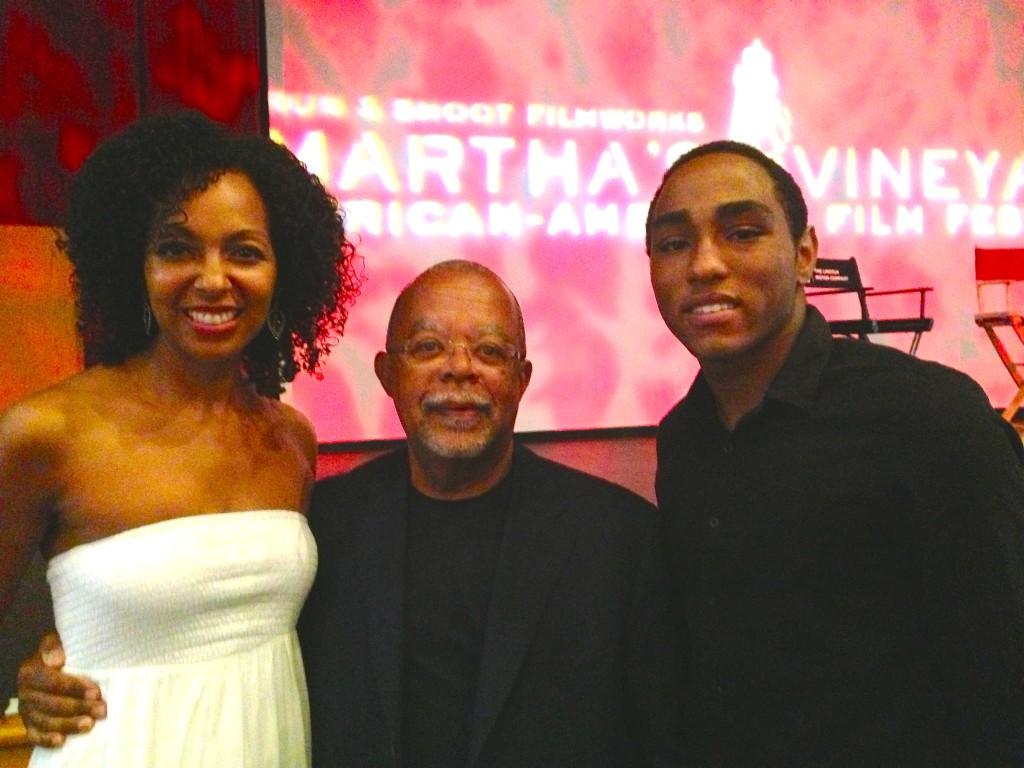 Teresa Kay-Aba Kennedy, Professor Henry Louis Gates Jr., Daniel Kennedy at Martha's Vineyard Film Festival