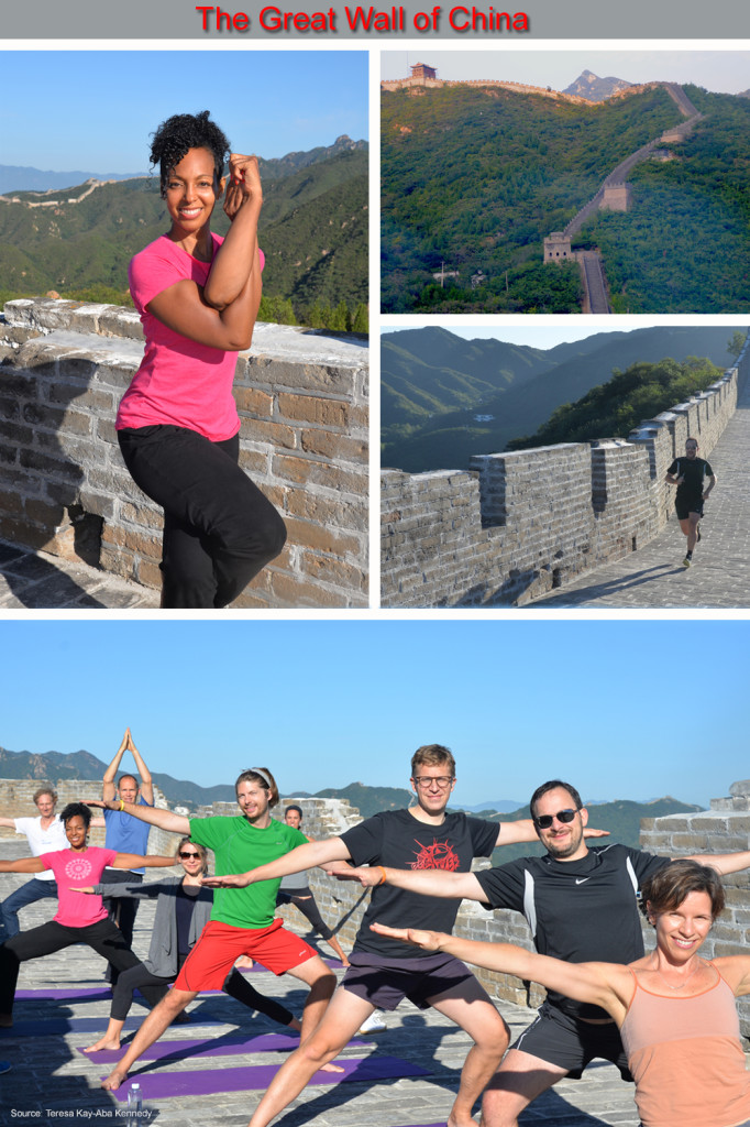 "Young Global Leaders taking time to ""Protect The Asset"" on The Great Wall of China"