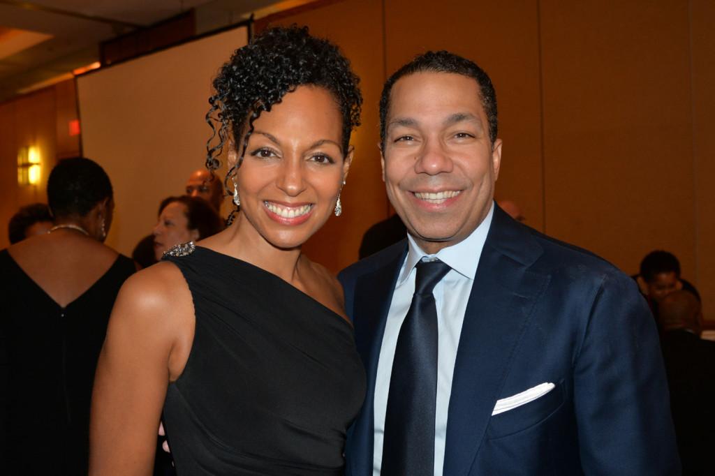 Teresa Kay-Aba Kennedy and Valentino D. Carlotti - both HBS '92 - at the Harvard Black Alumni Weekend 2014