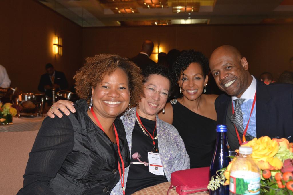 Teresa Kay-Aba Kennedy and friends at the Harvard Black Alumni Weekend 2014