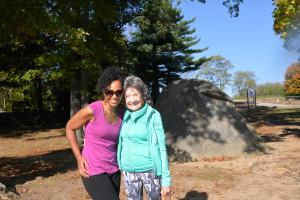 Teresa Kay-Aba Kennedy and 96-year-old Tao Porchon-Lynch