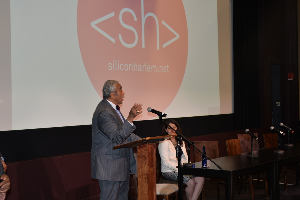 Congressman Charles Rangel and Dr. Frances Colon speaking at the First Annual Silicon Harlem Conference