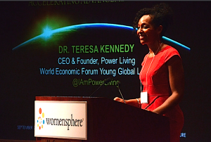 Teresa Kay-Aba Kennedy speaking at 2014 Womensphere event