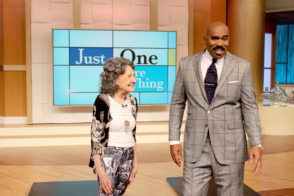 96-year-old yoga master Tao Porchon-Lynch on the Steve Harvey Show - January 20, 2015 air date