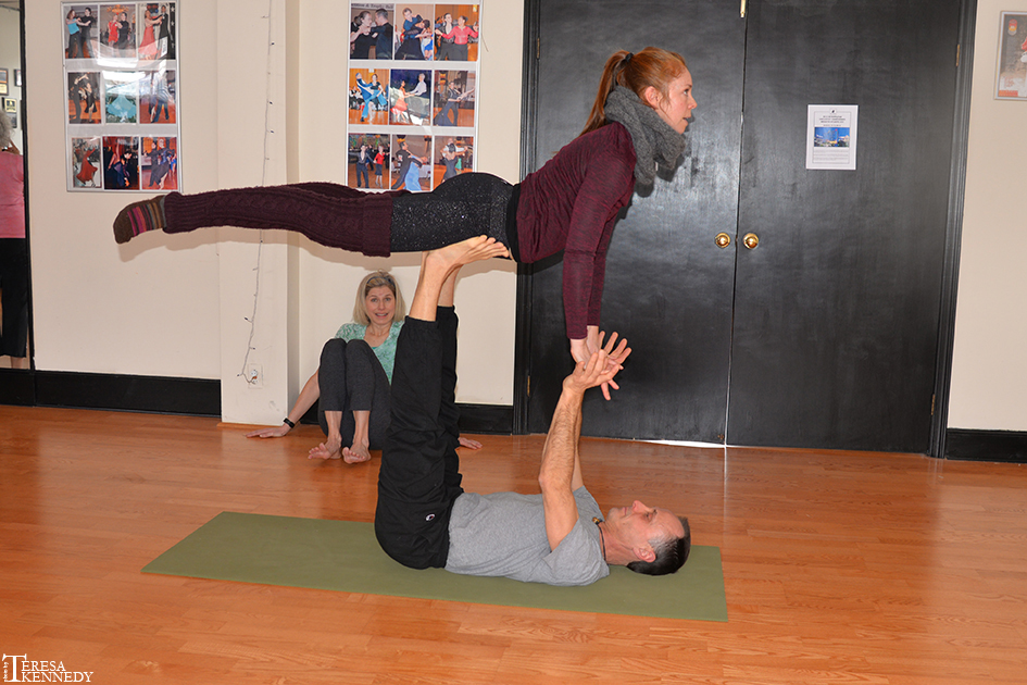 AcroYoga Class at Fred Astaire Studios in Hartsdale, NY