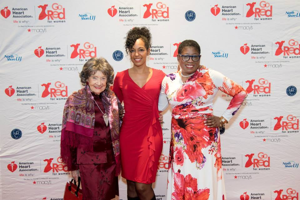 96-year-old Yoga Master Tao Porchon-Lynch, Teresa Kay-Aba Kennedy, Dionne Polite at the 2015 American Heart Association Go Red Luncheon at the NY Hilton Midtown - March 3, 2015