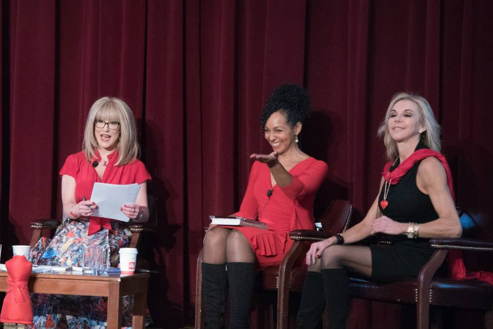 Teresa Kay-Aba Kennedy speaking on the 2015 American Heart Association Go Red Educational Panel at the NY Hilton Midtown - March 3, 2015