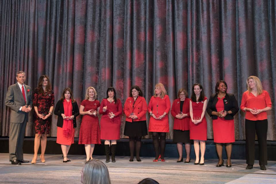 Honorees at the 2015 American Heart Association Go Red Luncheon  at the NY Hilton Midtown - March 3, 2015